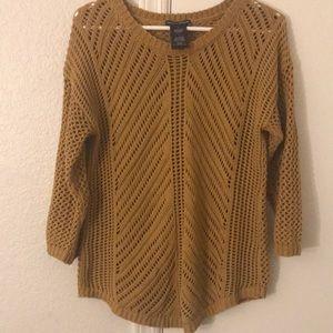 Chelsea & Theodore Mustard Yellow Sweater